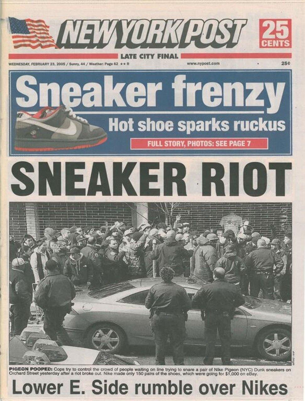 "Jeff Staple x Nike Dunk ""Pigeon"" - 2005 - New York Post"