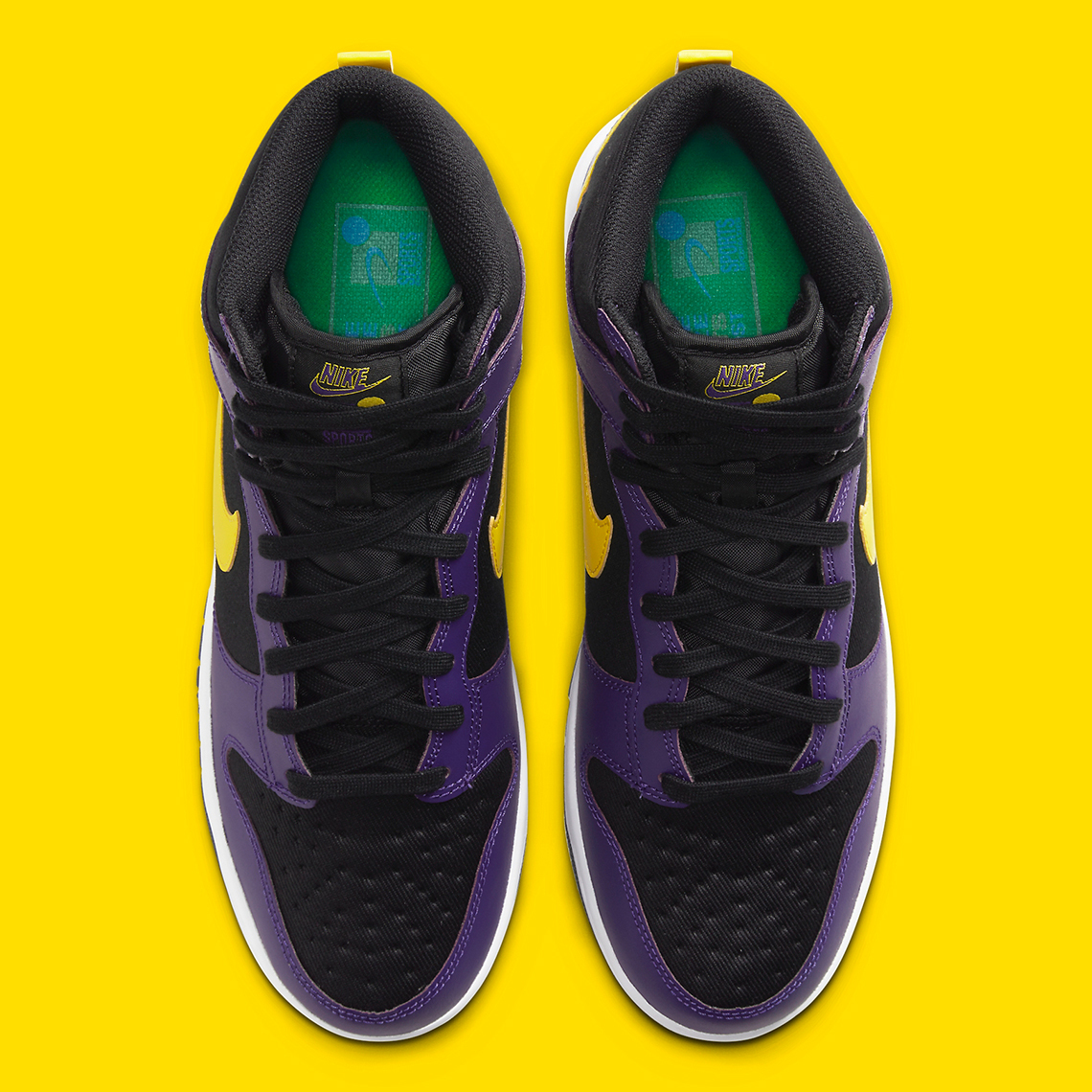 Nike Dunk High EMB ''Lakers'' - DH0642-001
