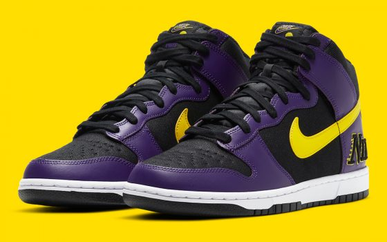 Nike Dunk High EMB ''Lakers'' - DH0642-001