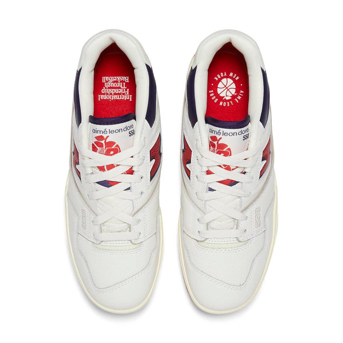 Aimé Leon Dore x New Balance 550 ''White/Navy/Red'' - BB550A3
