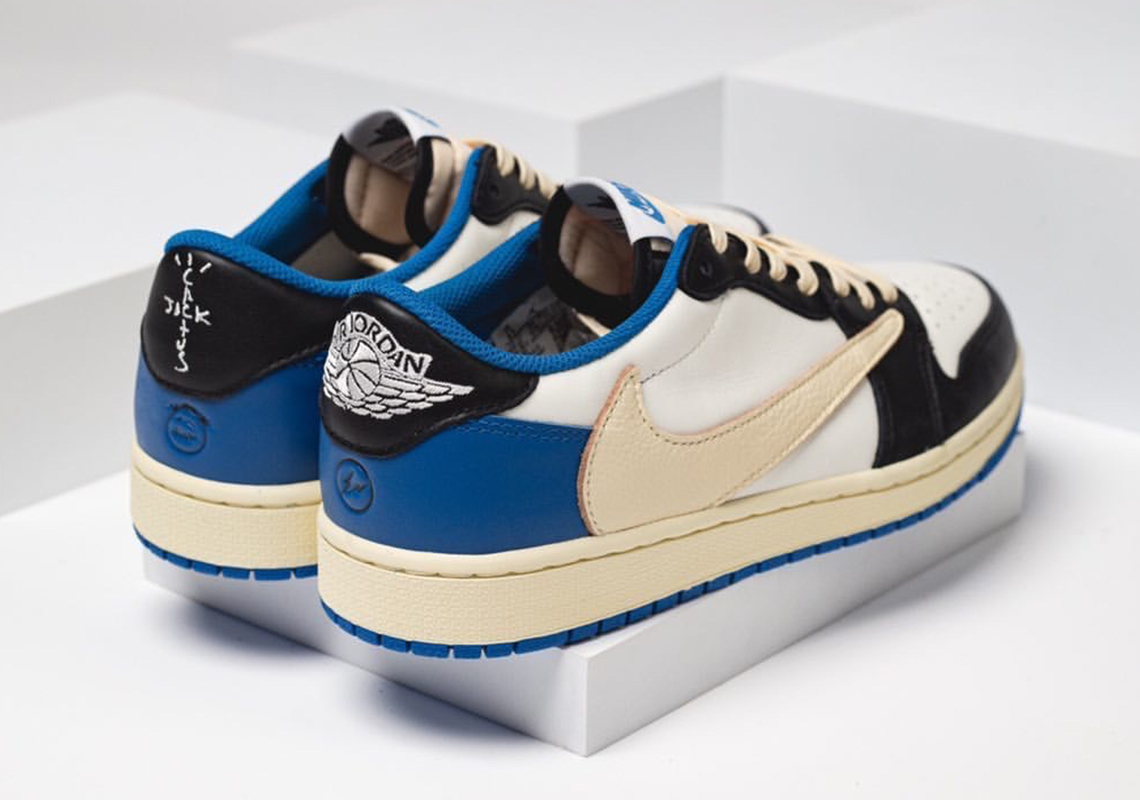 Fragment Design x Travis Scott x Air Jordan 1 Low OG - DM7866-140