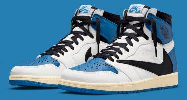 Fragment DesignTravis Scott x Air Jordan 1 High ''Military Blue''