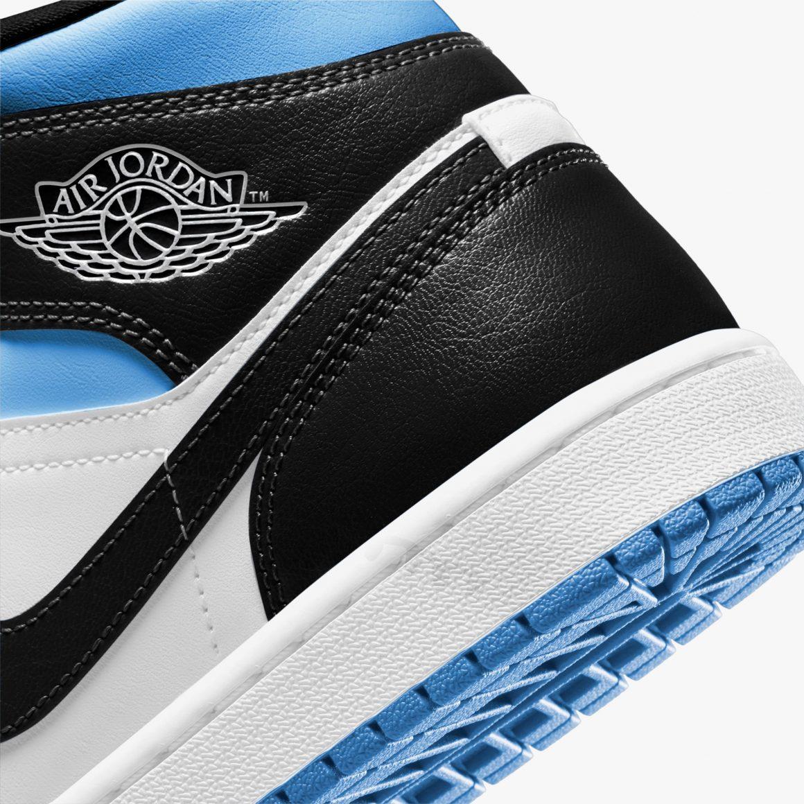 Air Jordan 1 Mid WMNS ''White/Black-University Blue'' - BQ6472-102