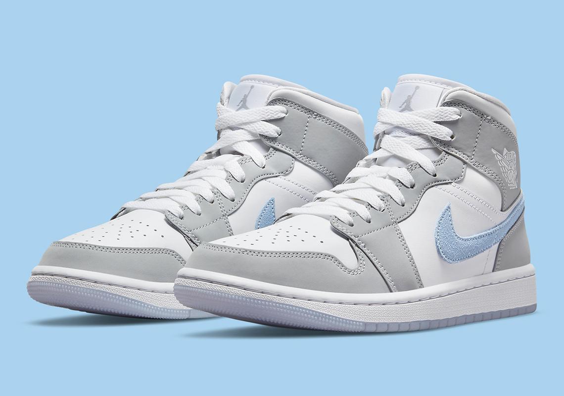 Air Jordan 1 Mid WMNS ''Grey Blue'' - BQ6472-105 - Sneaker Style