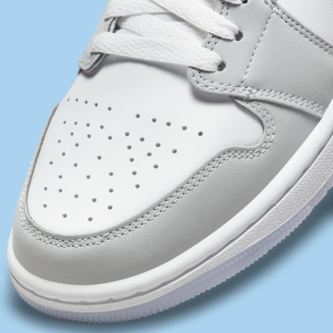 Air Jordan 1 Mid WMNS ''Grey Blue'' - BQ6472-105