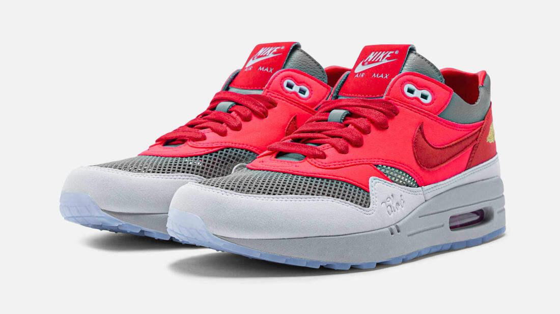 CLOT x Nike Air Max 1 ''Kiss Of Death'' ''Solar Red'' - DD1870-600