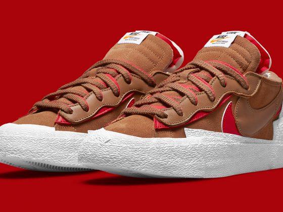 Sacai x Nike Blazer Low ''British Tan'' - DD1877-200