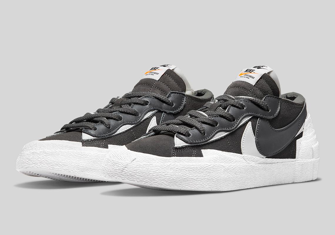 Sacai x Nike Blazer Low ''Iron Grey'' - DD1877-002