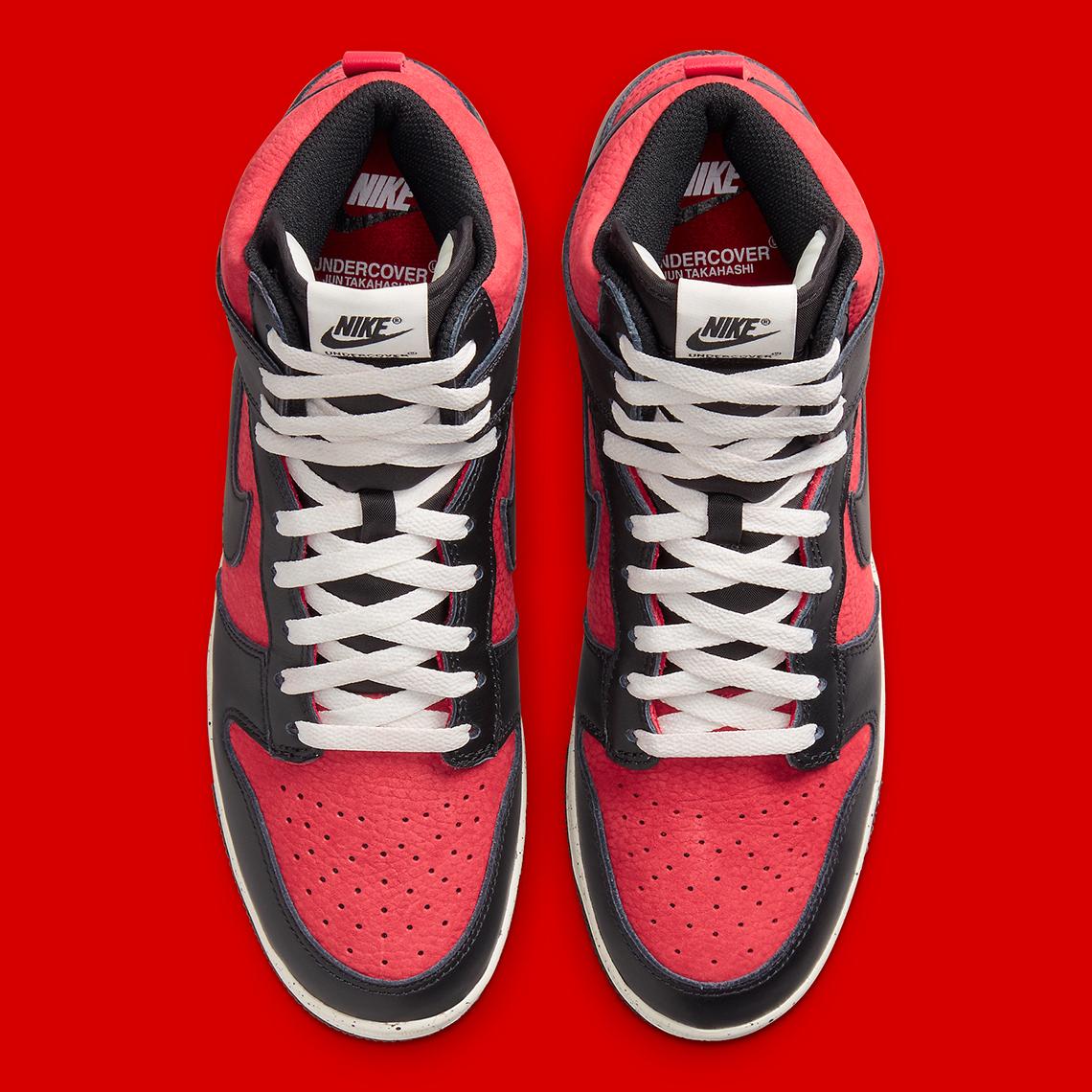 UNDERCOVER x Nike Dunk High 1985 ''UBA'' ''Gym Red'' - DD9401-600