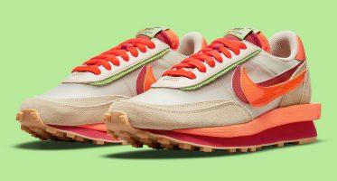 CLOTSacai x Nike LDWaffle ''Orange Blaze''