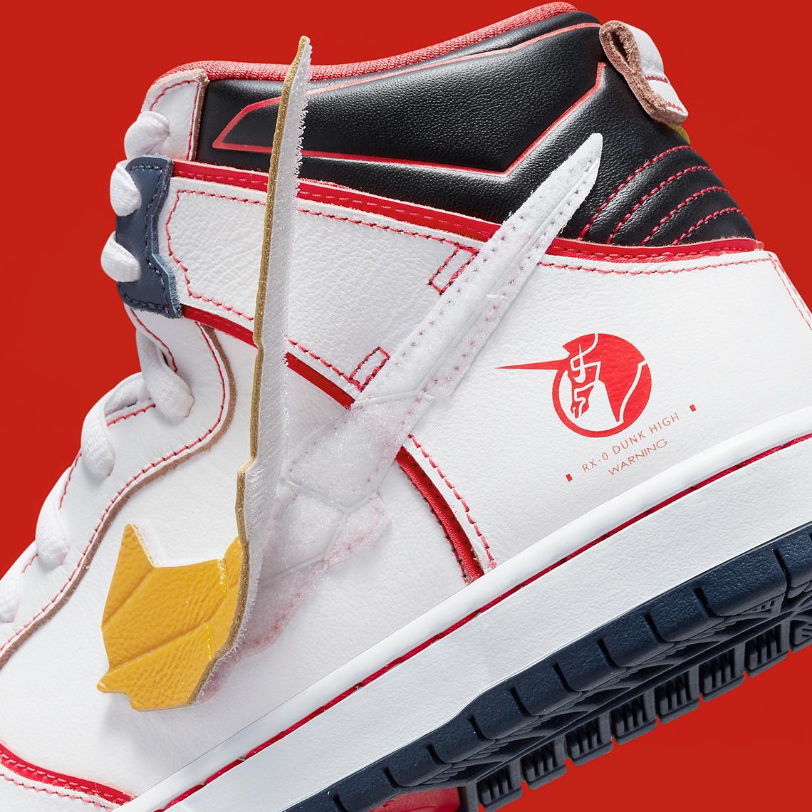 Gundam x Nike SB Dunk High ''RX-0 Unicorn'' - DH7717-100