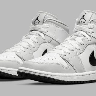 Air Jordan 1 Mid ''White/Light Smoke Grey'' - BQ6472-015